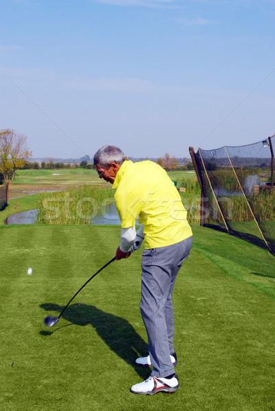 golf player hit ball Stock photo © goce