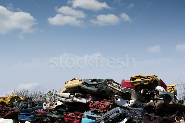junk yard with old cars and wreck Stock photo © goce