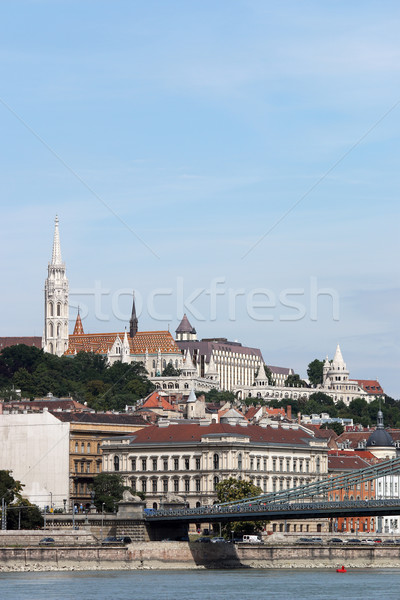 Fisherman bastion and Matthias church Budapest Hungary Stock photo © goce