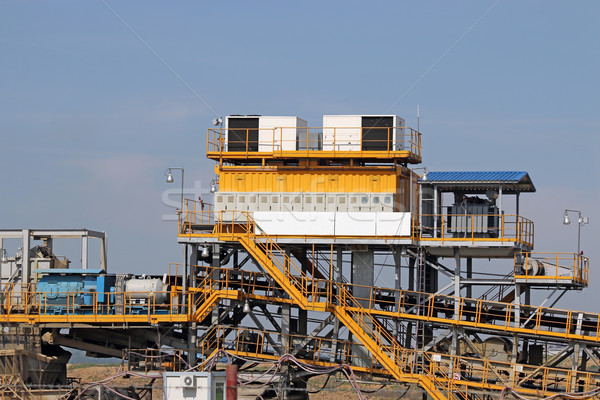 Charbon mine machines lourd industrie construction Photo stock © goce