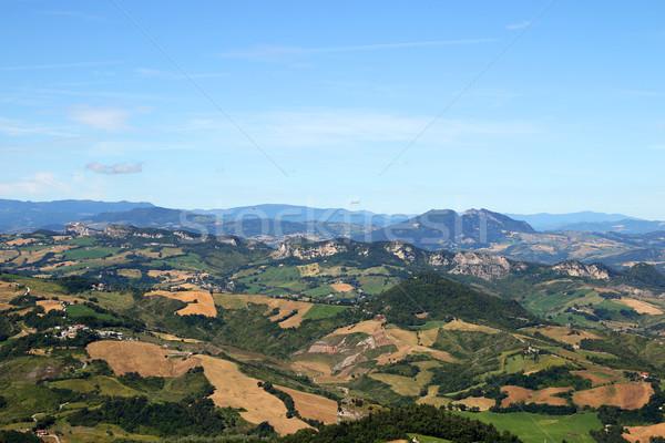 холмы гор Сан-Марино Италия пейзаж небе Сток-фото © goce