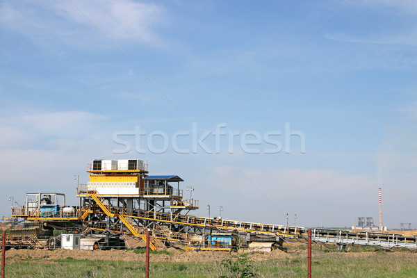 open coal mine and thermal power plant Stock photo © goce
