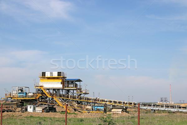 Open carbone mine centrale elettrica costruzione tecnologia Foto d'archivio © goce