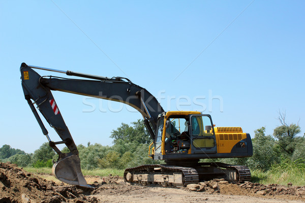 construction site with excavator Stock photo © goce
