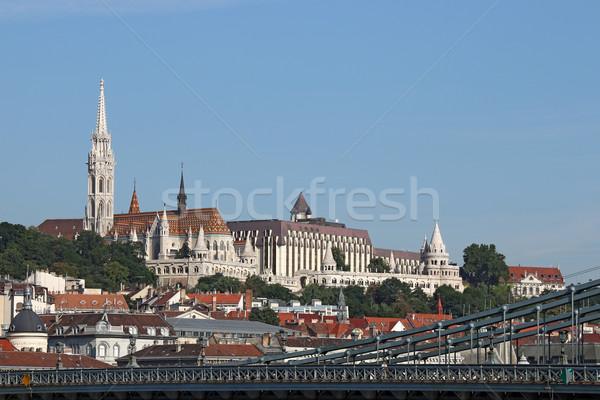 Fisherman bastion and Matthias church Budapest cityscape Stock photo © goce