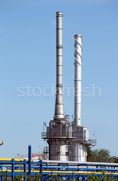 refinery petrochemical plant oil industry Stock photo © goce
