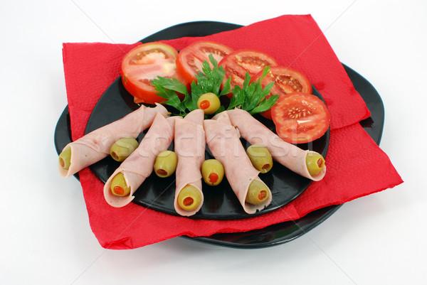 Wyżywienie żywności obiedzie pomidorów oliwy obiad Zdjęcia stock © goce