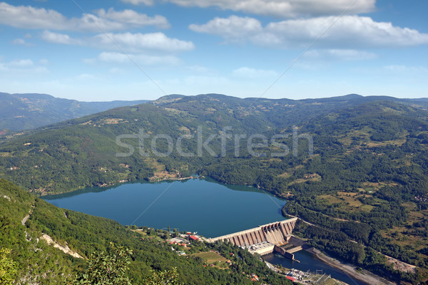 Hydroelectric power plant on river landscape Perucac Serbia Stock photo © goce