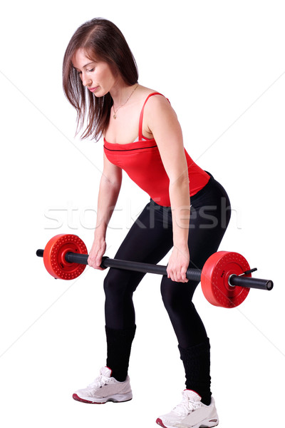 girl weight lifter fitness exercise Stock photo © goce