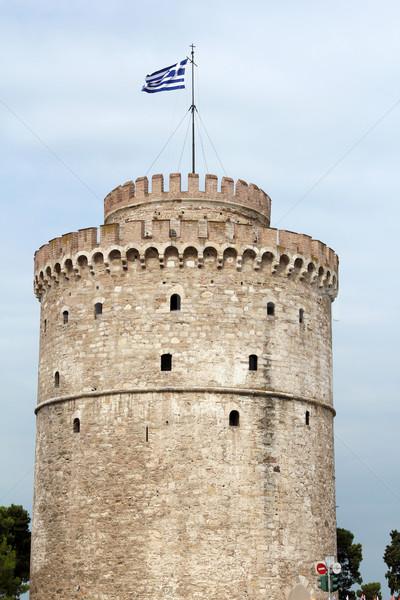 Thessaloniki famous landmark white tower Stock photo © goce