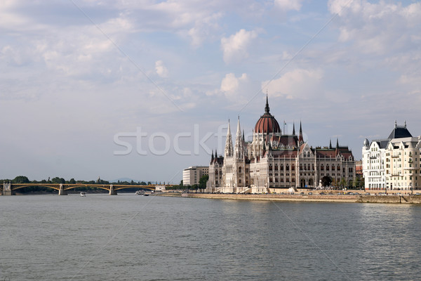 Hungarian Parliament building on Danube river Budapest Stock photo © goce