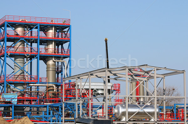 workers on new petrochemical plant construction site Stock photo © goce