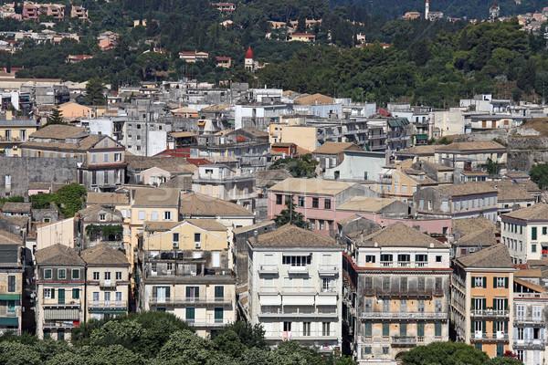 öreg épületek városkép város Görögország épület Stock fotó © goce