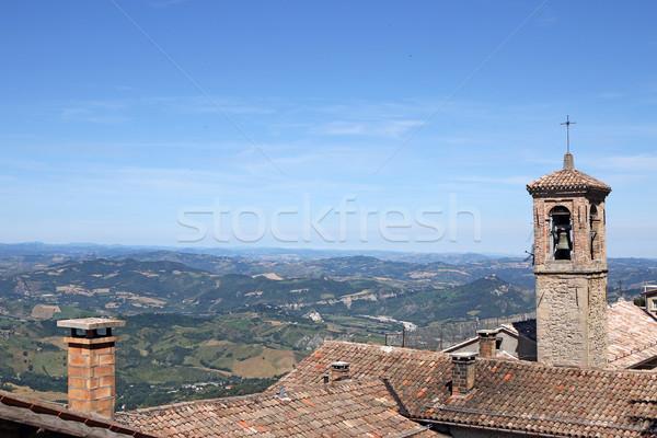 old church tower San Marino Italy Stock photo © goce