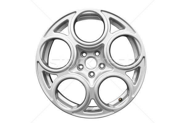 Foto stock: Coche · aluminio · rueda · aislado