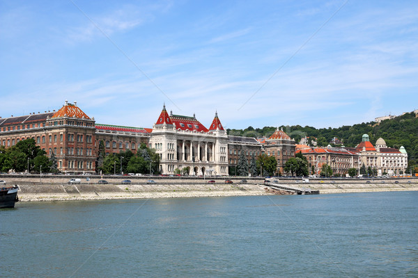 old buildings on Danube riverside Budapest Hungary Stock photo © goce