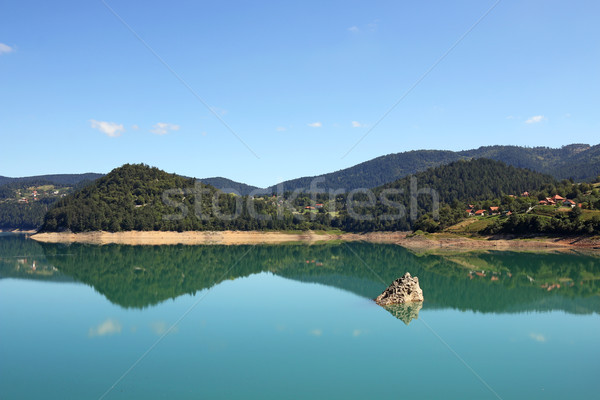 Zaovine lake Tara mountain Serbia  nature landscape Stock photo © goce