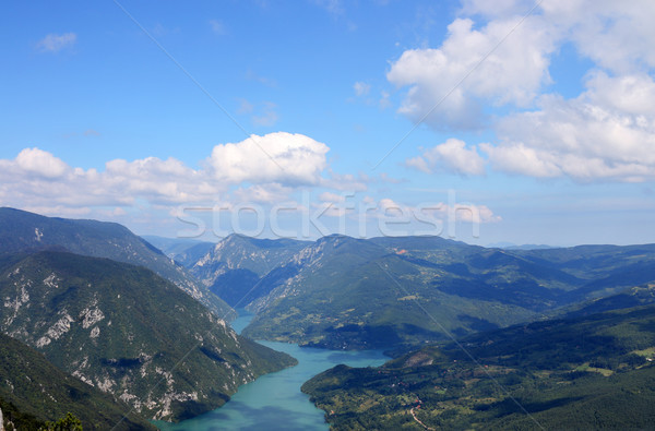 Stock photo: Tara mountain and Drina river canyon landscape