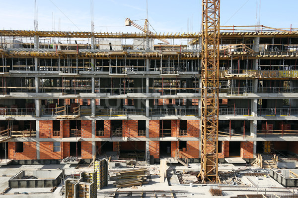 new building construction site industry Stock photo © goce