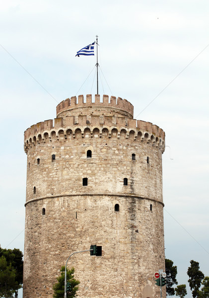 white tower Thessaloniki famous landmark Stock photo © goce