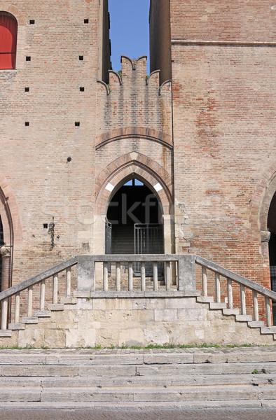 Palazzo dell Arengo detail Rimini Italy Stock photo © goce