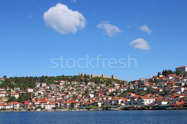 Tó Macedónia tájkép nyár évszak víz Stock fotó © goce