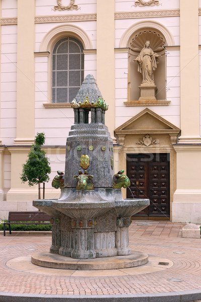 old Zsolnay fountain landmark Pecs Hungary Stock photo © goce