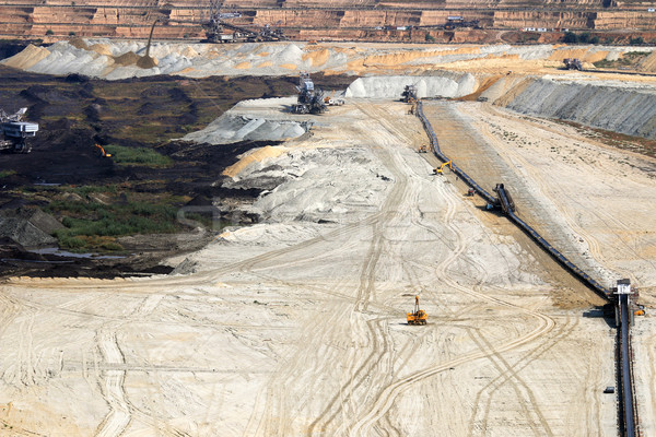 Open pit coal mine with excavators and machinery Kostolac Serbia Stock photo © goce