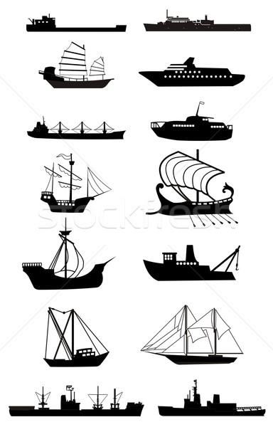 Stock photo: ship silhouette