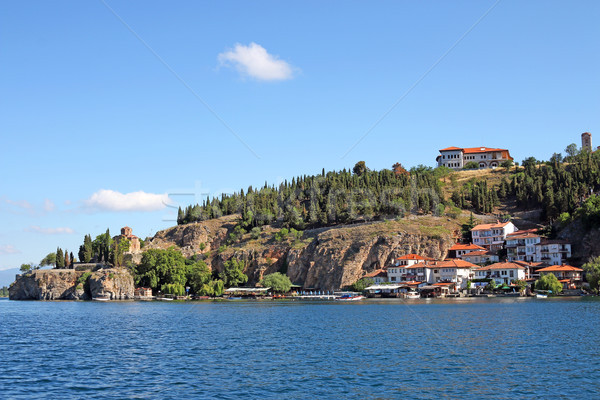 Jovan Kaneo church and buildings Ohrid Macedonia Stock photo © goce
