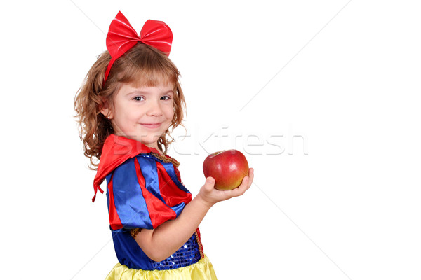 little girl snow white with apple Stock photo © goce