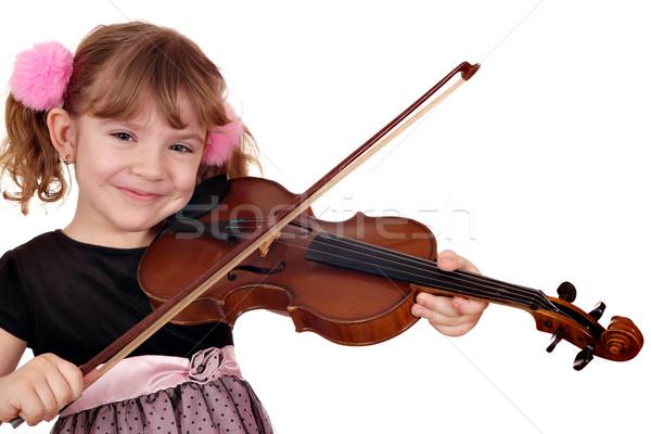 美しい 女の子 再生 バイオリン 音楽 少女 ストックフォト © goce