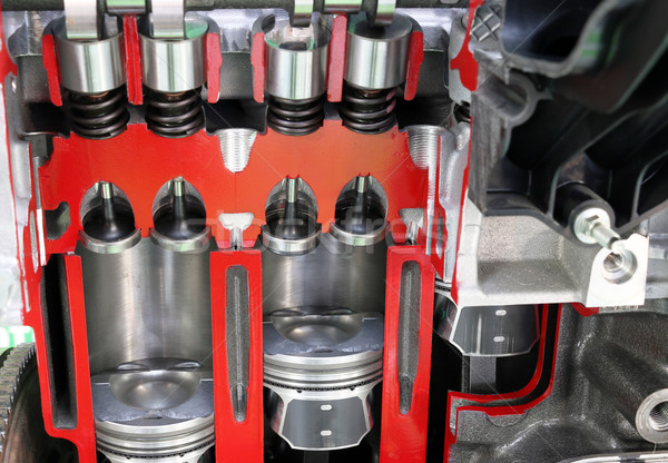 car engine pistons and valves detail Stock photo © goce