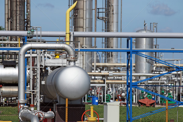 refinery petrochemical plant pipelines industry zone Stock photo © goce
