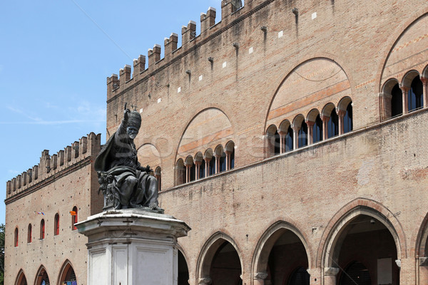 Pápa szobor tér Olaszország művészet kő Stock fotó © goce