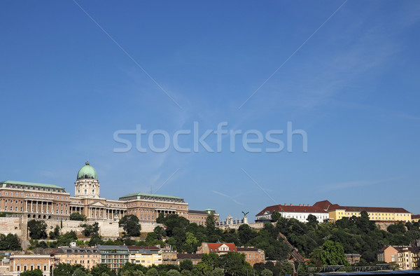 Buda castle on hill Budapest cityscape Stock photo © goce