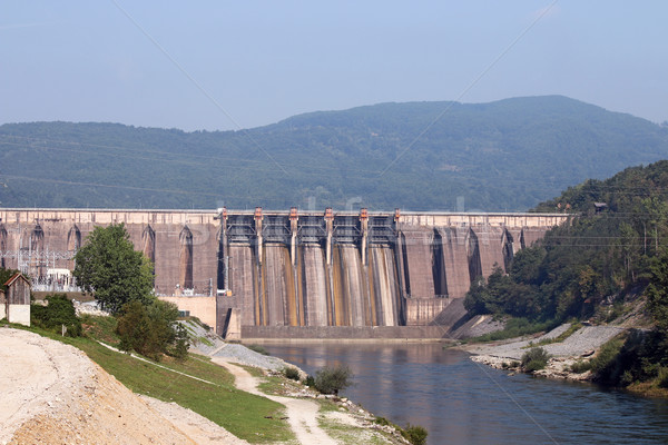 hydroelectric power plants on river industry zone Stock photo © goce