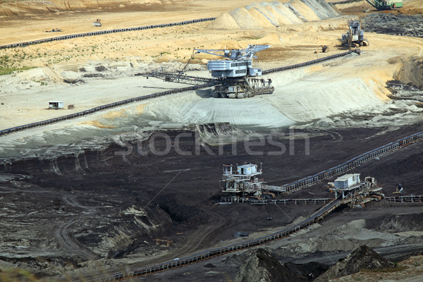 Ouvrir charbon mine lourd machines industrielle Photo stock © goce