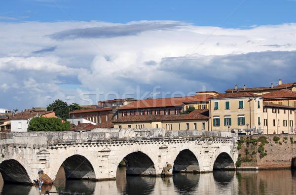 Stock photo: old Tiberius bridge landmark Rimini Italy