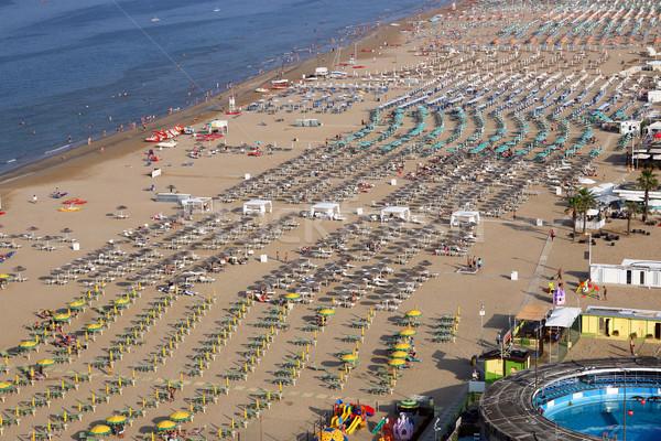 Rimini beach Adriatic sea summer season Italy Stock photo © goce