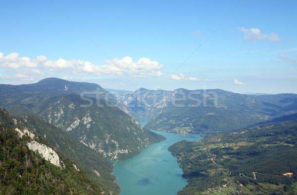 Montanha rio desfiladeiro paisagem verão temporada Foto stock © goce