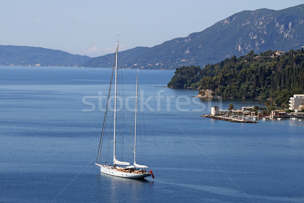sailboat sailing Corfu island Greece Stock photo © goce