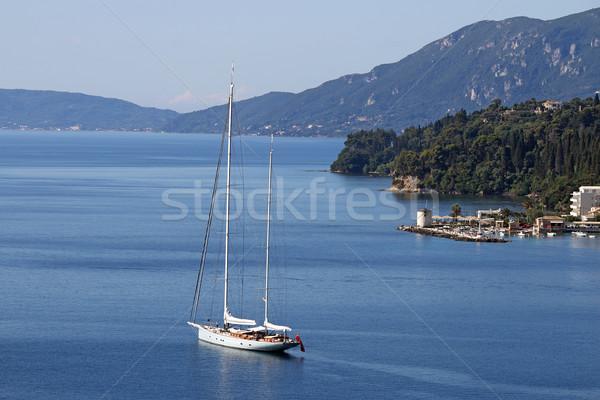 żaglówce żeglarstwo wyspa Grecja niebo krajobraz Zdjęcia stock © goce