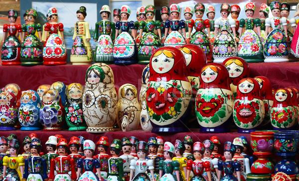 Matrioshka Russian wooden nesting dolls Stock photo © goce
