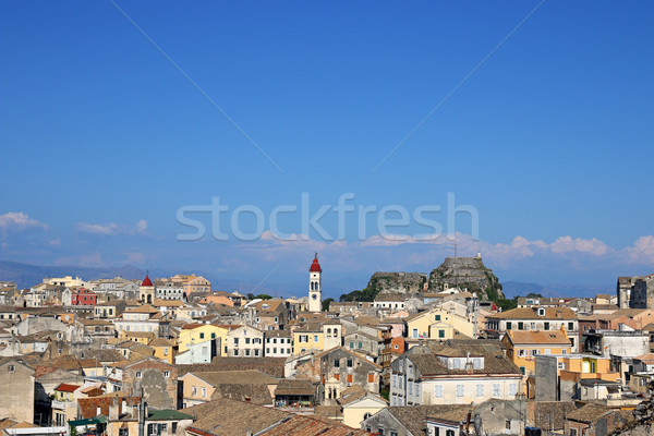 Corfu town and old fortress Greece Stock photo © goce