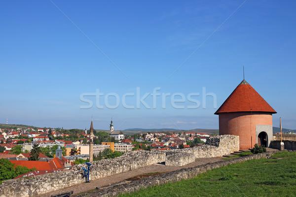 мнение крепость дома здании стены Церкви Сток-фото © goce