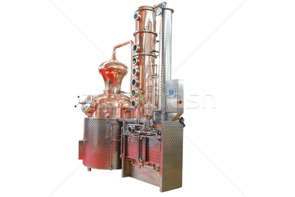 蒸留酒製造所 孤立した 白 建設 ビール ドリンク ストックフォト © goce