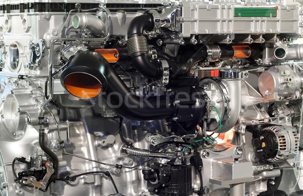 heavy truck engine closeup transport  Stock photo © goce