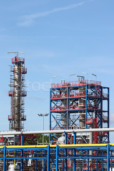 new petrochemical factory construction site Stock photo © goce