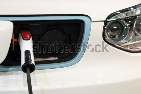 Hibrid autó új technológia erő elektromosság Stock fotó © goce